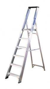 Platform step ladder with tools tray Available sizes from 6ft to 24ft.  HT NO.111
