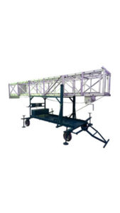 Aluminium tower extension tiltable ladder